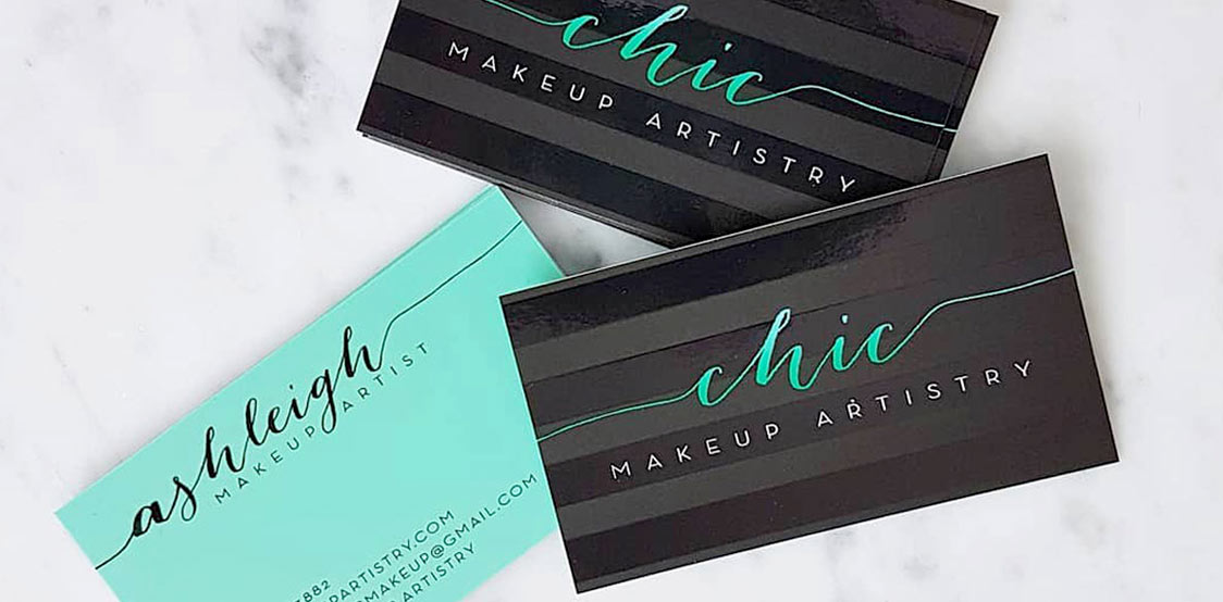 Chic Makeup artistry business cards