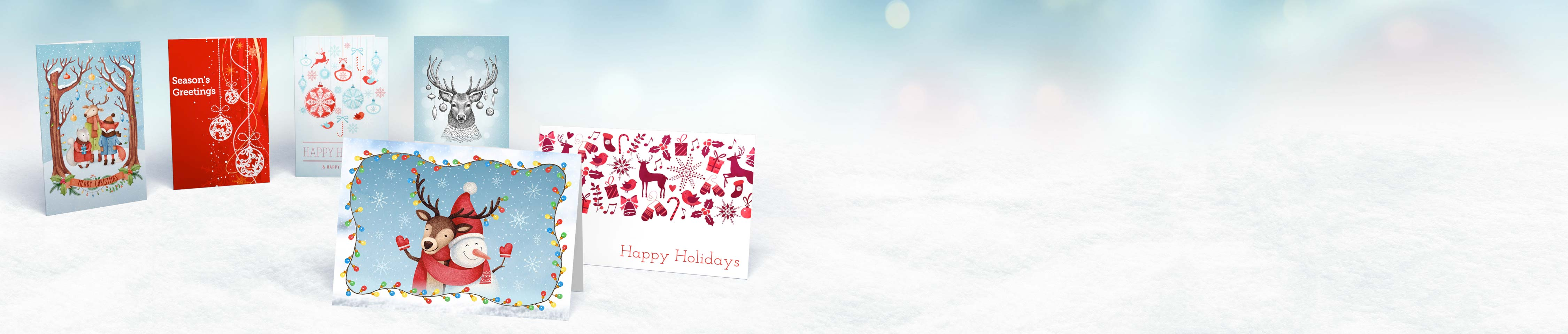 Custom Printed Greeting Cards - Design Your Christmas cards online