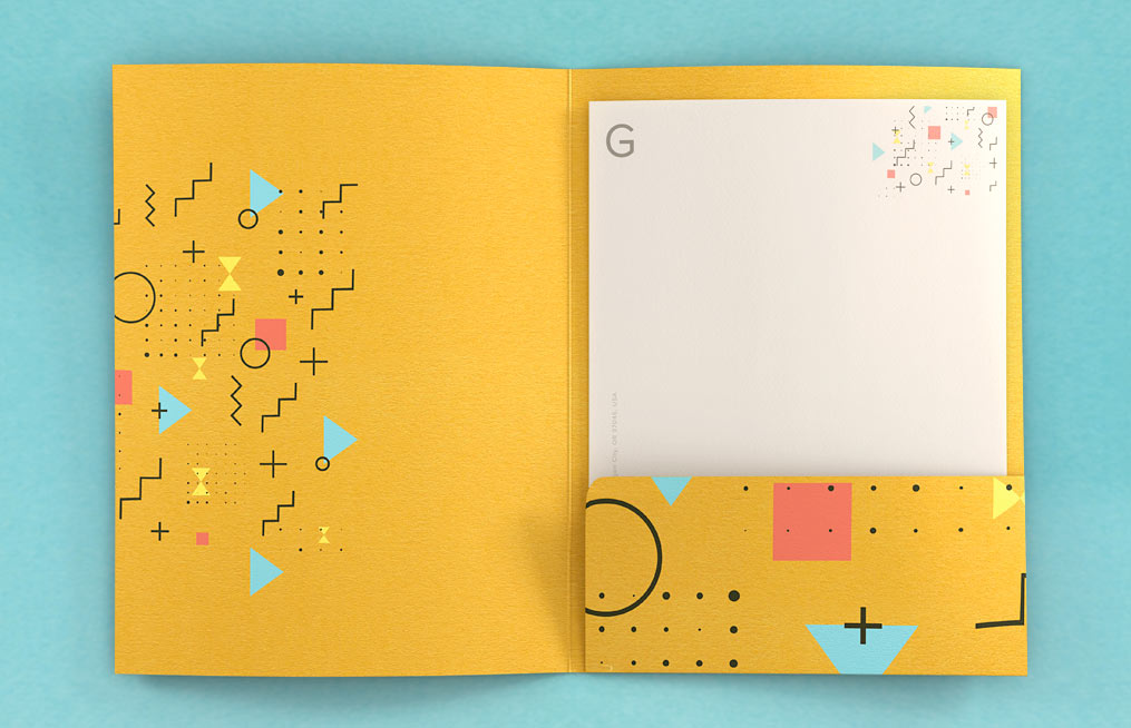 Colorplan presentation folder with silk screening
