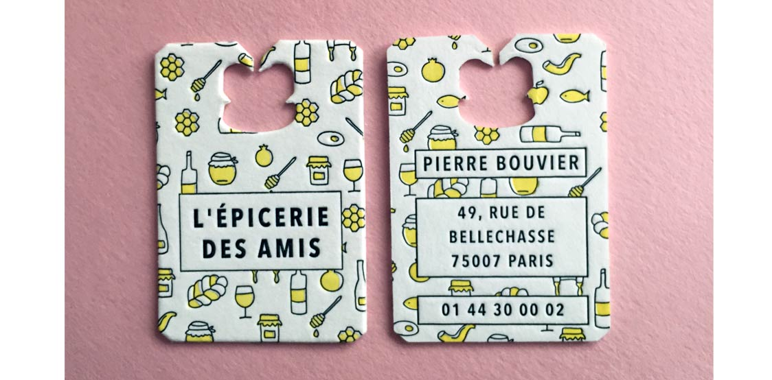 Creative business cards shaped as bread clip