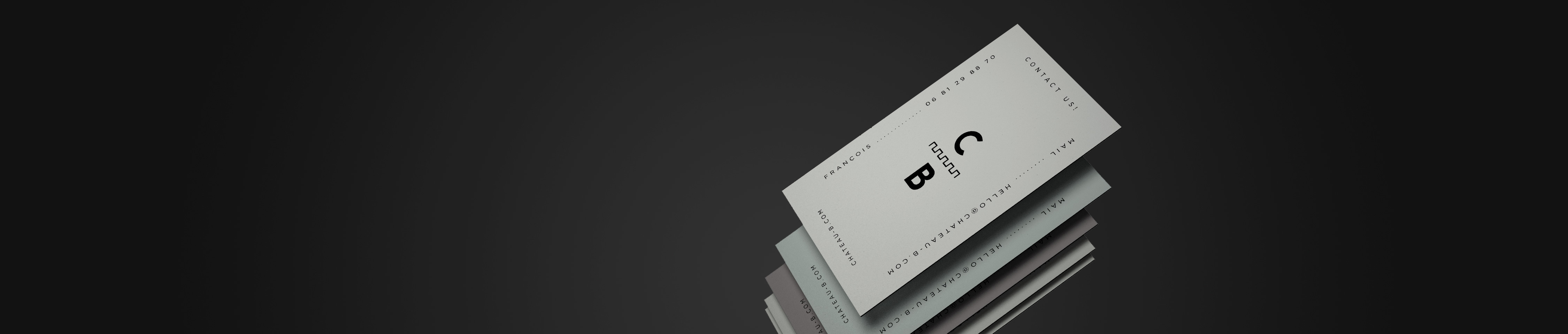 Premium gray business cards print card online colourmoves