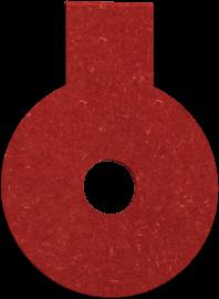 Hang tag paper ring