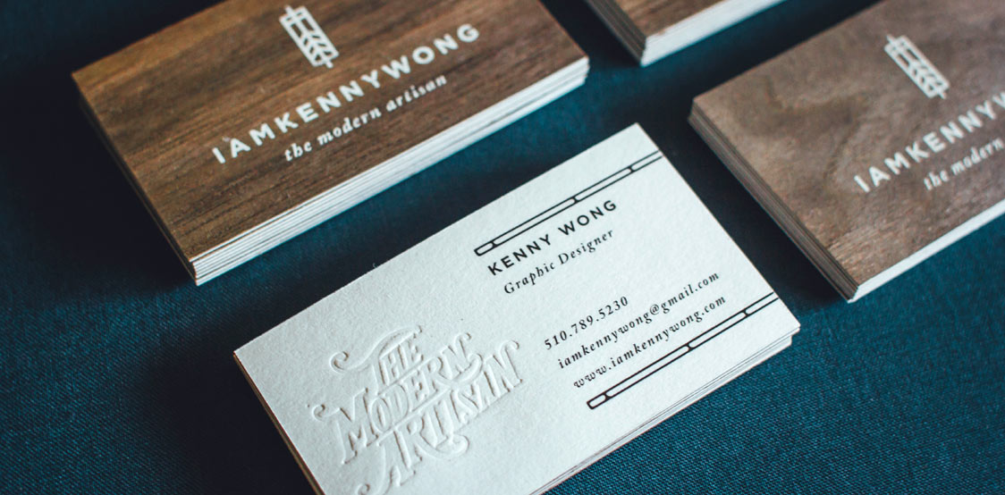 Kenny Wong wooden business cards