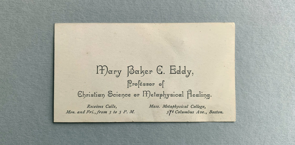 Mary Baker Eddy Business Cards