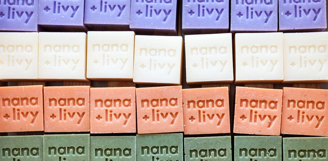 Nana x Livy bars of soap