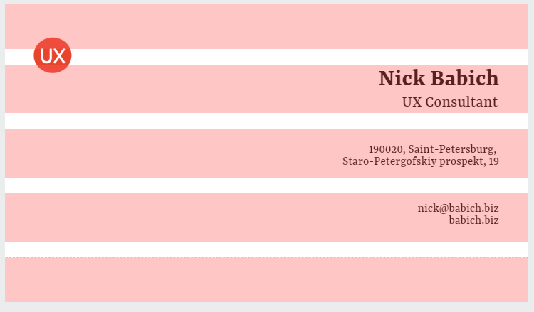 Nick Babich Business card workflow