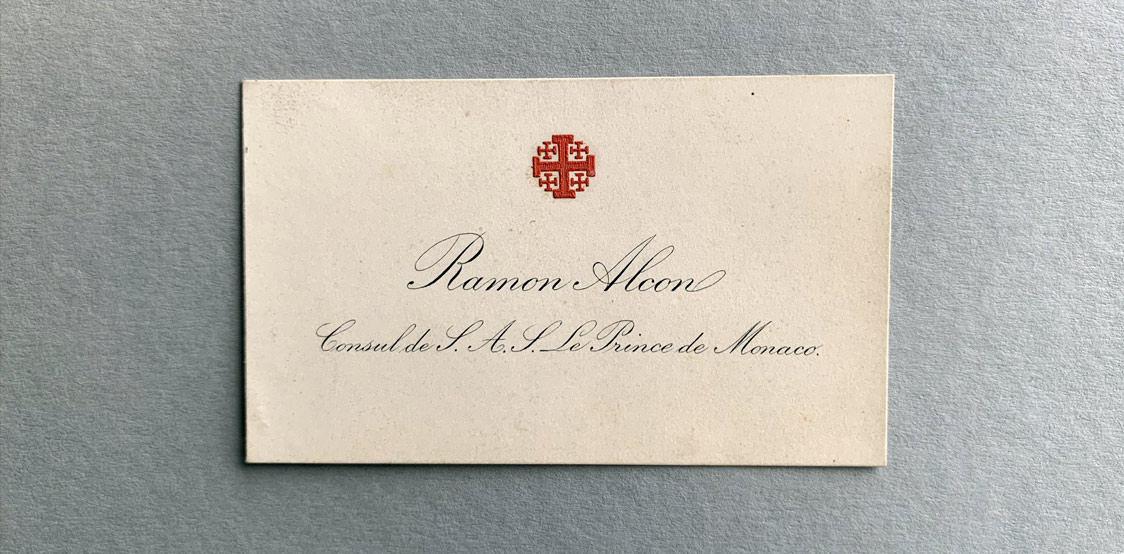 Ramon Alcon Vintage Business Card