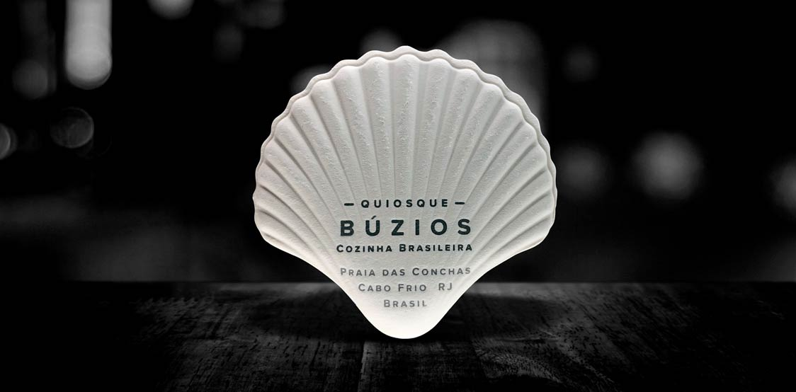 Clam shell shaped business cards