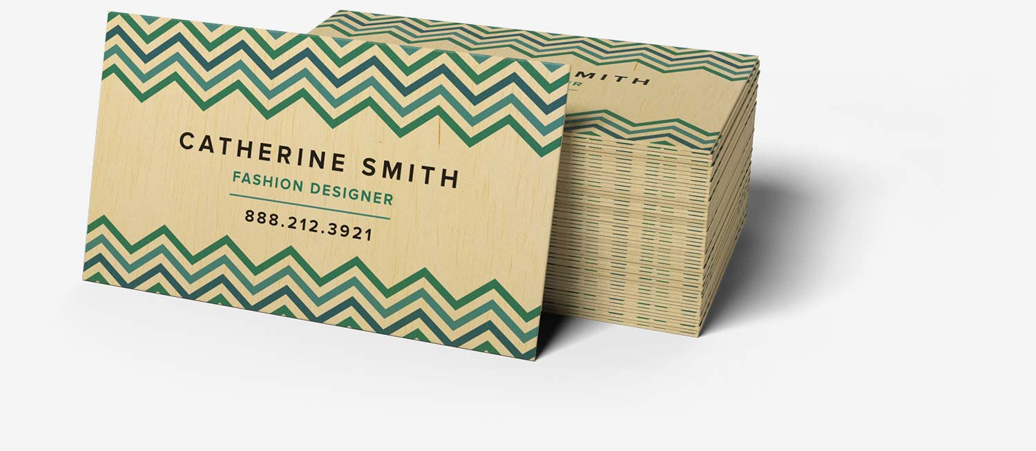 Wooden business cards jukebox print smooth birch reheart Gallery