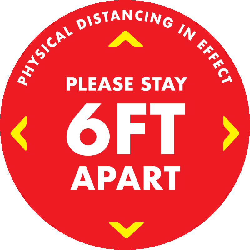 11Inch-Round Waterproof Keep Six Feet Apart Social Distancing Floor Decals for Keep Safety Distance,Wait Here Keep Six Feet Social Distance Floor Decals Marker Anti-Slip Red Footprint Pack of 15