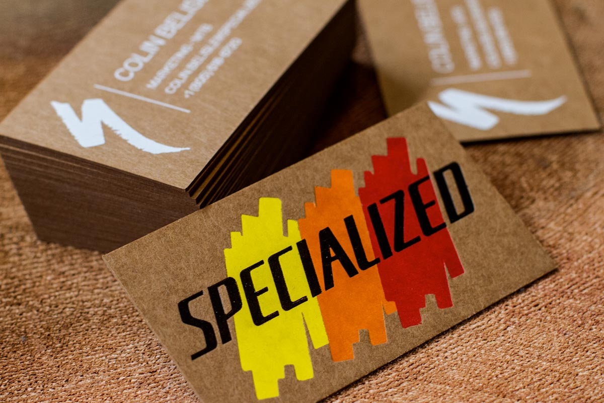 Brown Kraft Business card with Foil for Specialized