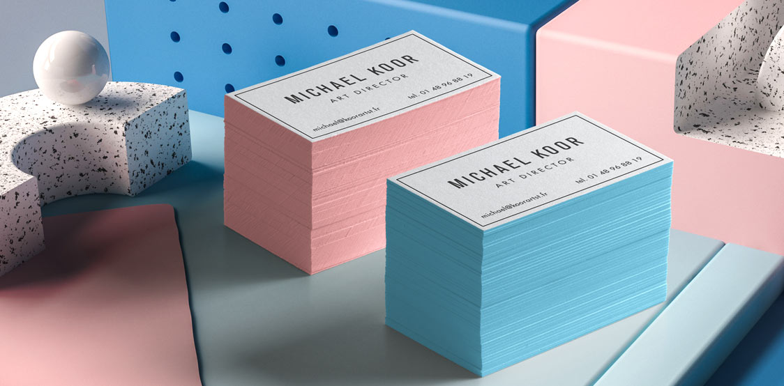 Mega thick business cards with painted edges