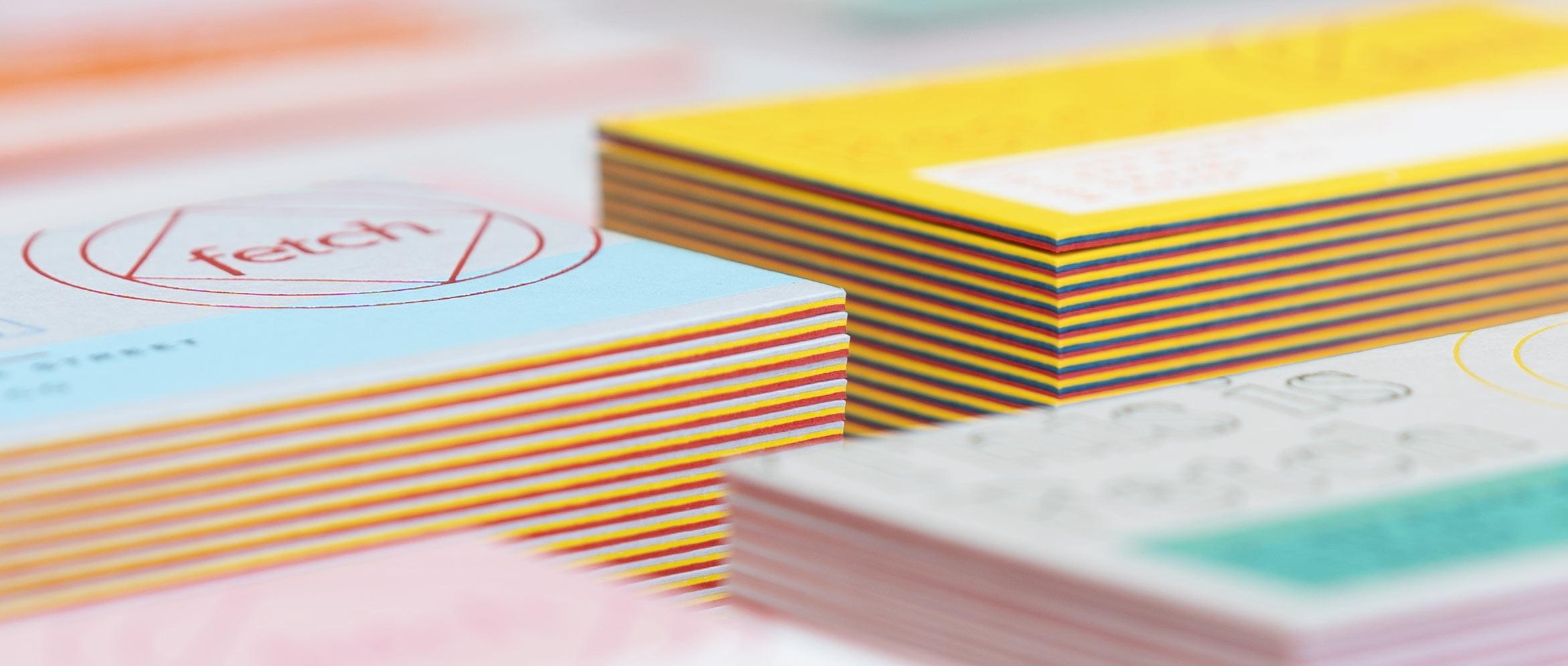 Triplex Business Cards - Fetch