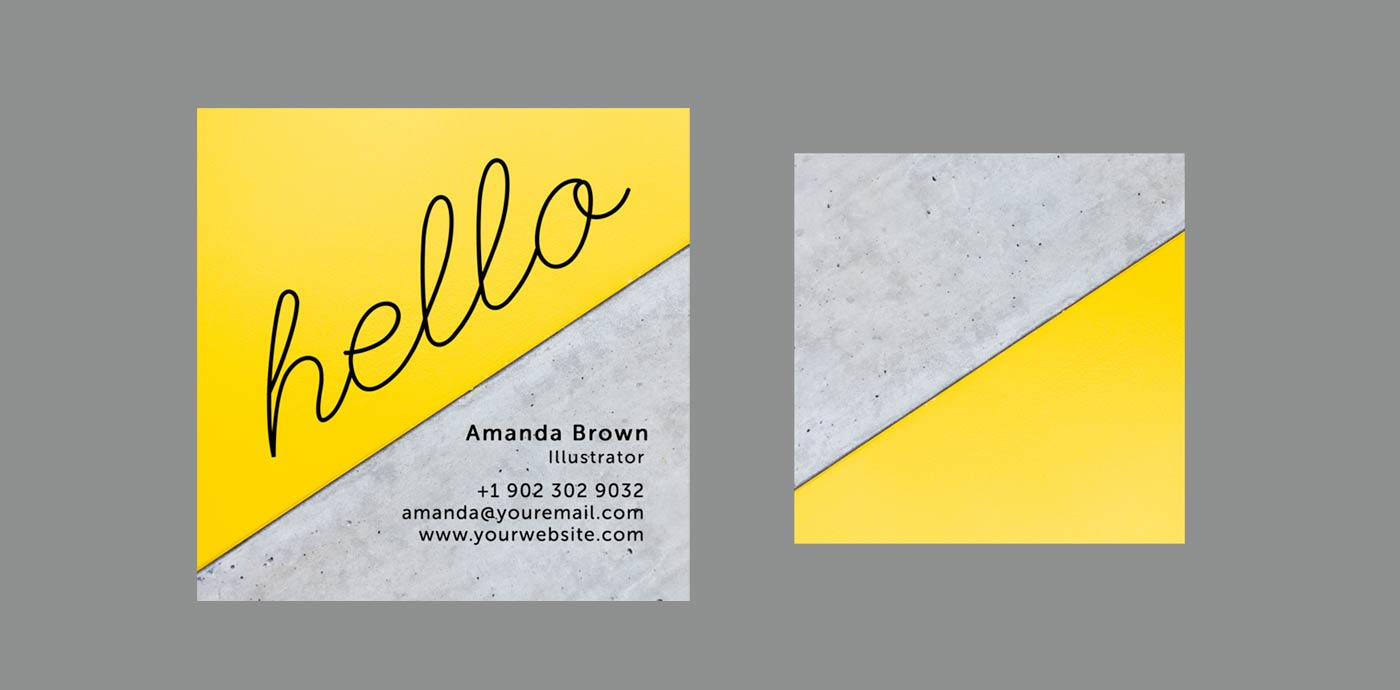 Two Toned Business Card Template