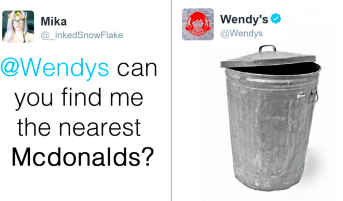 Wendy's joke to McDonalds
