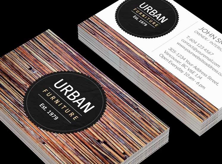 Wood themed business card template