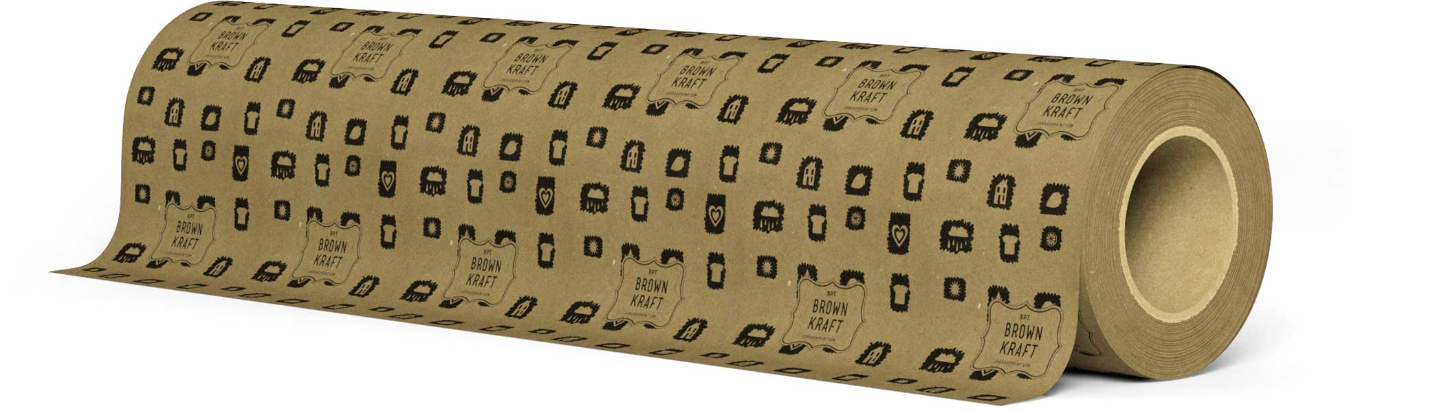 8pt Brown Kraft wrapping paper roll